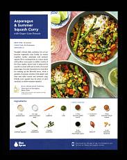 Blue Apron asparagus & summer squash curry