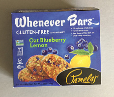 "Gluten-free ""Whenever Bars"" box, 2018"