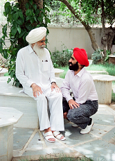 Duggal with his father in 1989 in Delhi, India shortly before his father passed away.