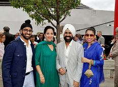 "Duggal with his wife and two children. (L-R) Yuvraj Singh Duggal, ""Bubbly"" Duggal, Mac Duggal, and Ieena Duggal."