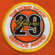 29 Year Service Award badge, 2017
