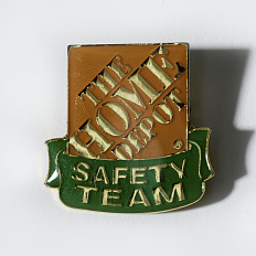 Home Depot safety team pin