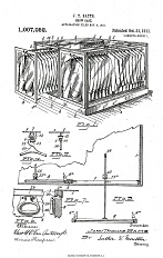 U.S. Patent granted to J.T. Batts for retail display racks, 1911