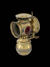 Bicycle lamp, 1880s-1890s