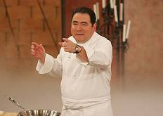 On the set of Emeril Live, about 2000