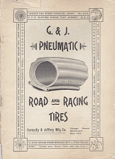 G. & J. Pneumatic Road and Racing Tires catalog, 1890s