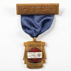 International Ladies Garment Worker Union Convention Badge, 1937