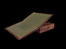 Declaration of Independence desk, opened