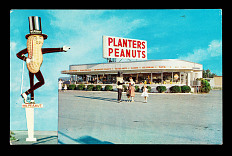 Planters store postcard, about 1950