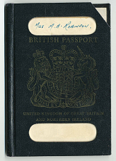 Ann Ratner's British passport when she immigrated to the United States.