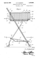 U. S. Patent for Goldman's cart, 1939