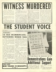 The Student Voice, February 1964
