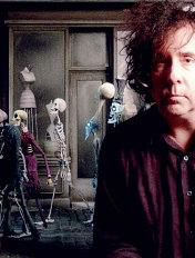 Tim Burton and Corpse Bride skeletons