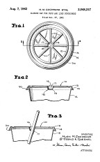"""Patent drawing, """"Closure Cap for Cups and Like Containers,"""" 1962"""