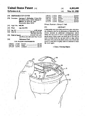 "Patent drawing, ""Disposable Cup Cover,"" 1980"