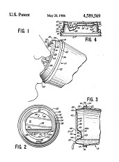 "Patent drawing, ""Lid for Drinking Cup,"" 1986"