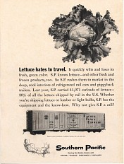 Rail transportation ad, 1964
