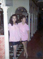 Ann Ratner (pictured right) with Gigi Haje in 1967