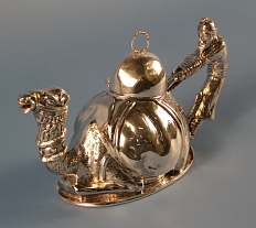 Teapot in the shape of a camel used in one of Nammour's restaurants.
