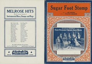 """Sugar Foot Stomp"" sheet music, 1927"