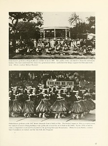 Hula dancers perform at the 1987 Merrie March Festival held in Hilo.