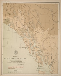 Map of Southeastern Alaska. Prepared at the office of the U.S. Coast and Geodetic Survey, 1903.