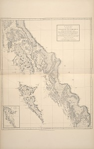 A chart showing part of the coast of N. W. America.