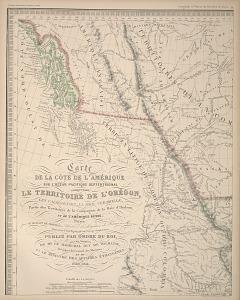 Carte de la côte de L'Amérique ...