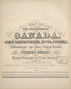 Map of the provinces of Canada ...