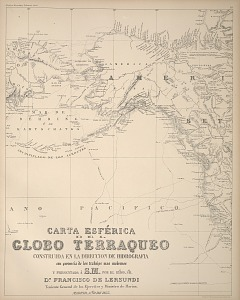 Carta esférica del Globo Terraqueo ...