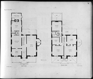 Plans for Villa No. 4, First Story. Second Story.