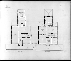 Plans for Villa, No. 7. First Story. Second Story.