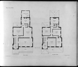 Plans for Villa, No. 10. First Story. Second Story.