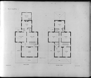Plans for Cottage No. 14. First Story. Second Story