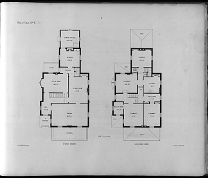 Plans of Cottage No. 17. First Story. Second Story.