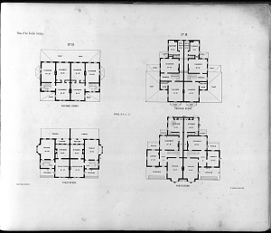 Plans of the Double Cottages. First Story. Second Story ...