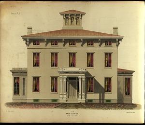 Mansion. No. 22. Front Elevation.