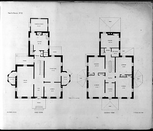 Plans for Mansion, No. 22. First Story. Second Story.