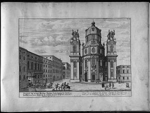 Vue de l'eglise de Nôtre Dame á Salzbourg ...