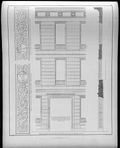 Durchschnitt der façade.
