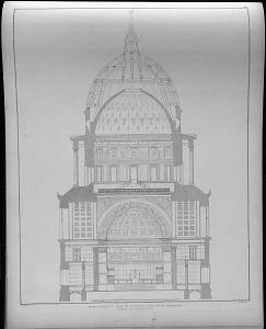 Durchschnitt der St. Nicolai kirche in Potsdam.