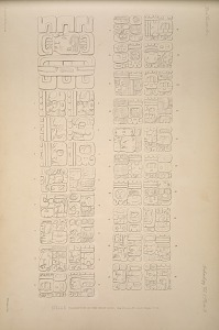 Stela E. Inscription on the west side, See Plate 30 and Pages 11-12