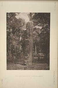 Stela F. South face and east side, See Plate 36a, and pages 12-13.