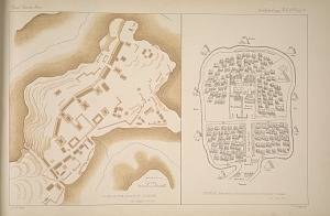 Plan of the ruins of Iximché. See Pages 30-38. Iximché. from MSS of Francisco Antonio Fuentes Y Gusman. See Page 37.