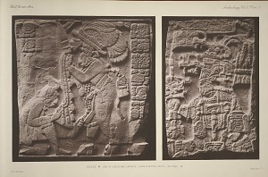 House M. Two of the stone lintels, from plaster casts. See Page 46
