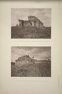(a) Casa de Monjas from the south west, Plate 2, No. 1, & Plate 3, See pages, 14-16. (b) Casa de Monjas from the south east, Plate 2, No. 1 & Plate 3, See pages, 14-19.