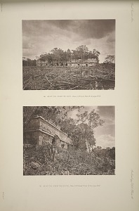 (a) AK at' Cib, from the West, Plate 2, No. 4. and Plate 19, See pages 19-20. (b) Ak at' Cib, from the south, Plate 2, No. 4, and Plate 19, See pages, 19-20.