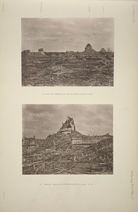 (a) View from terrace of Casa de Monjas, looking north. (b) Caracol, Plate 2, (No. 5) From the south, See pages, 20-22.