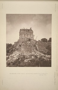 The great ball court. Temple A. The sculptured chamber, E. Plate 27. See Plates 43-51. and Pages 31-33.