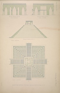 Plan of the castillo. No. 15 Plate 2, See Plates 56-59 and Pages 35-36.